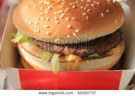Hamburger In A Carton Box