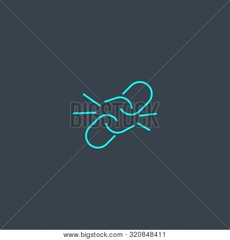 Weakness Concept Blue Line Icon. Simple Thin Element On Dark Background. Weakness Concept Outline Sy