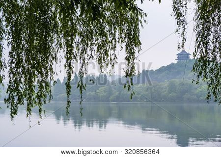 View Of Leifeng Pagoda At Xihu Lake, The West Lake Of Hangzhou City, Where Is A Freshwater Lake In H