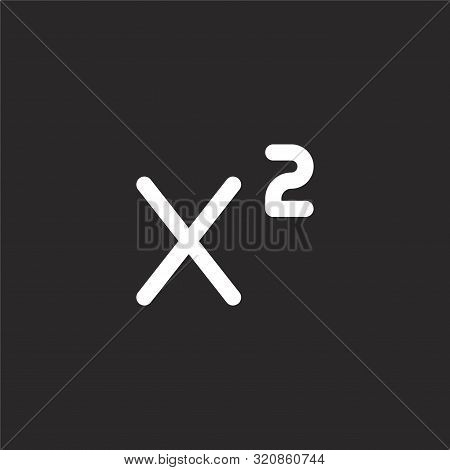 Superscript Icon. Superscript Icon Vector Flat Illustration For Graphic And Web Design Isolated On B