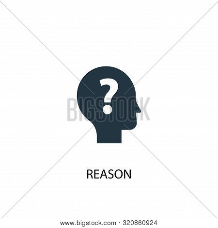 Reason Icon. Simple Element Illustration. Reason Concept Symbol Design. Can Be Used For Web