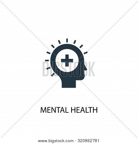 Mental Health Icon. Simple Element Illustration. Mental Health Concept Symbol Design. Can Be Used Fo