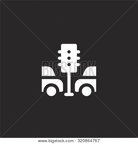 Traffic Jam Icon. Traffic Jam Icon Vector Flat Illustration For Graphic And Web Design Isolated On B