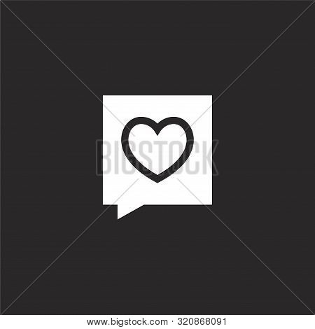 Chat Icon. Chat Icon Vector Flat Illustration For Graphic And Web Design Isolated On Black Backgroun