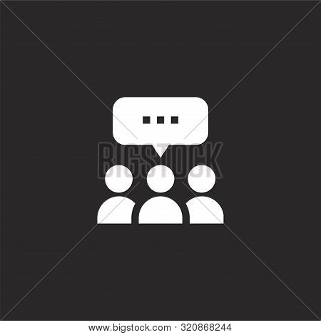 Ads Icon. Ads Icon Vector Flat Illustration For Graphic And Web Design Isolated On Black Background