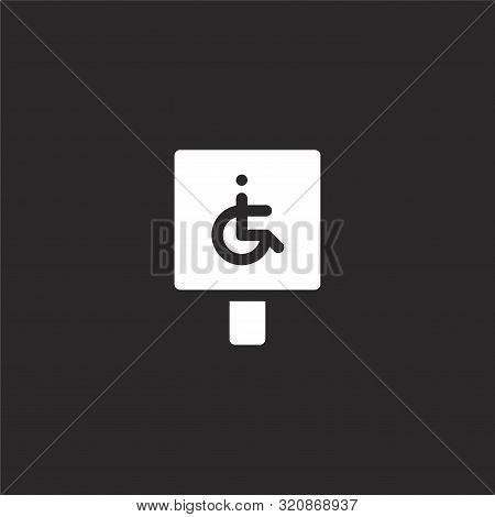 Parking Icon. Parking Icon Vector Flat Illustration For Graphic And Web Design Isolated On Black Bac