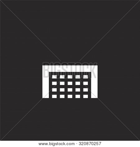Goal Icon. Goal Icon Vector Flat Illustration For Graphic And Web Design Isolated On Black Backgroun