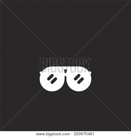 Accessory Icon. Accessory Icon Vector Flat Illustration For Graphic And Web Design Isolated On Black