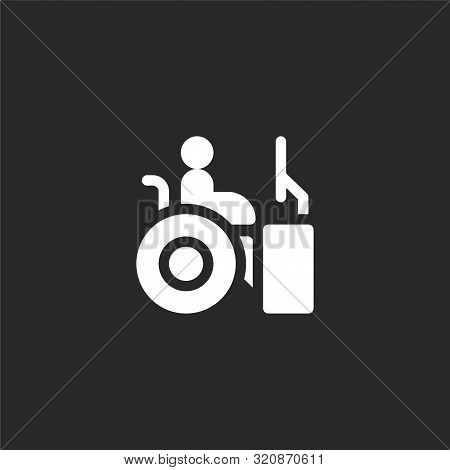 Worker Icon. Worker Icon Vector Flat Illustration For Graphic And Web Design Isolated On Black Backg