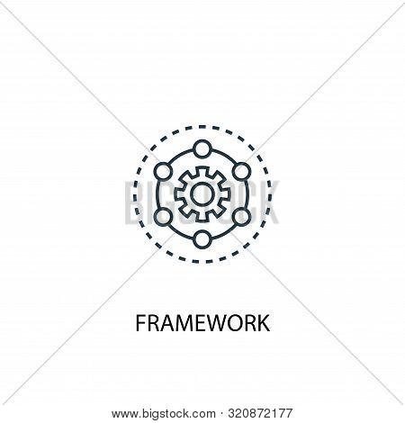 Framework Concept Line Icon. Simple Element Illustration. Framework Concept Outline Symbol Design. C