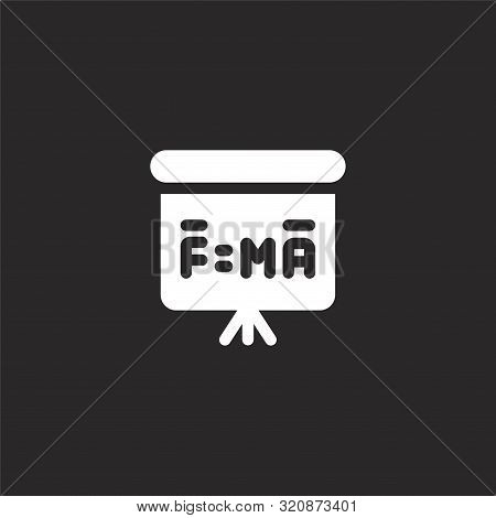 Formula Icon. Formula Icon Vector Flat Illustration For Graphic And Web Design Isolated On Black Bac
