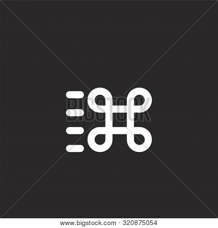 Command Icon. Command Icon Vector Flat Illustration For Graphic And Web Design Isolated On Black Bac