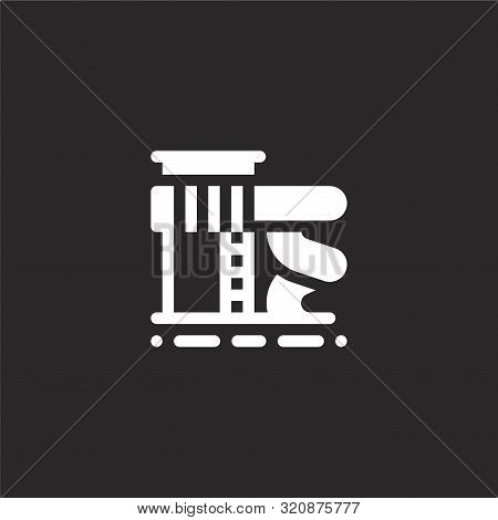 Slide Icon. Slide Icon Vector Flat Illustration For Graphic And Web Design Isolated On Black Backgro