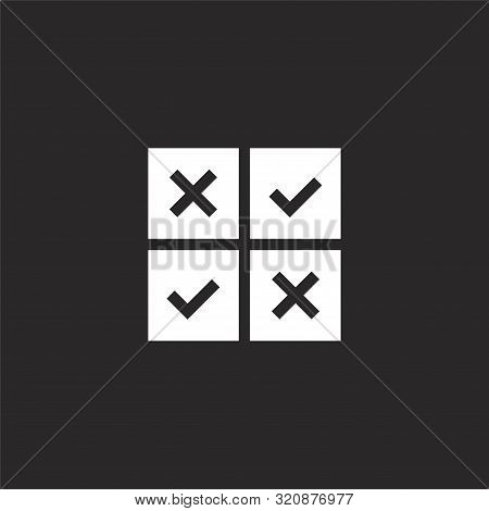 Feedback Icon. Feedback Icon Vector Flat Illustration For Graphic And Web Design Isolated On Black B