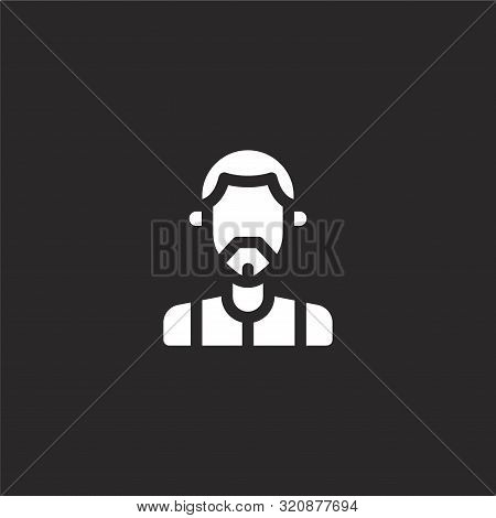 Seventies Icon. Seventies Icon Vector Flat Illustration For Graphic And Web Design Isolated On Black