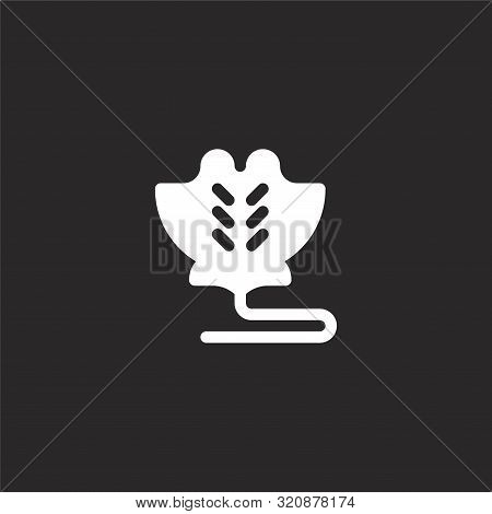 Manta Ray Icon. Manta Ray Icon Vector Flat Illustration For Graphic And Web Design Isolated On Black
