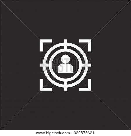 Selection Icon. Selection Icon Vector Flat Illustration For Graphic And Web Design Isolated On Black
