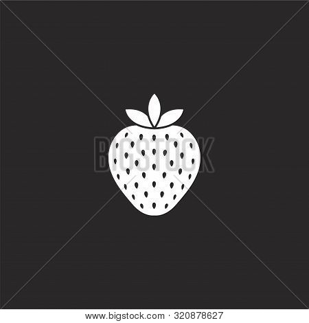 Strawberry Icon. Strawberry Icon Vector Flat Illustration For Graphic And Web Design Isolated On Bla
