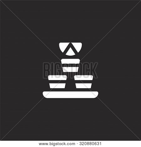 Vodka Icon. Vodka Icon Vector Flat Illustration For Graphic And Web Design Isolated On Black Backgro