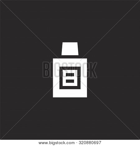 Mouthwash Icon. Mouthwash Icon Vector Flat Illustration For Graphic And Web Design Isolated On Black