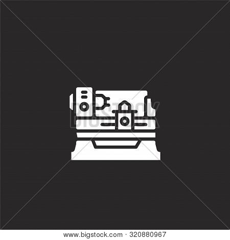 Milling Machine Icon. Milling Machine Icon Vector Flat Illustration For Graphic And Web Design Isola