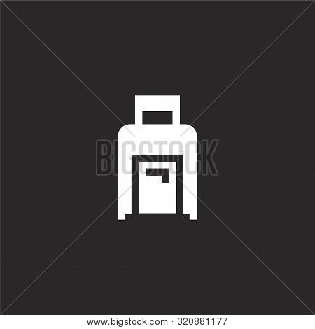 Baggage Icon. Baggage Icon Vector Flat Illustration For Graphic And Web Design Isolated On Black Bac