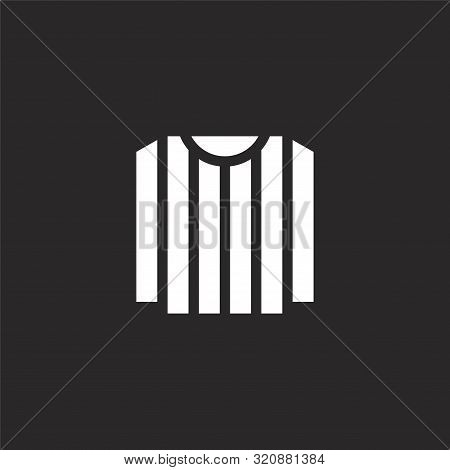 Referee Jersey Icon. Referee Jersey Icon Vector Flat Illustration For Graphic And Web Design Isolate