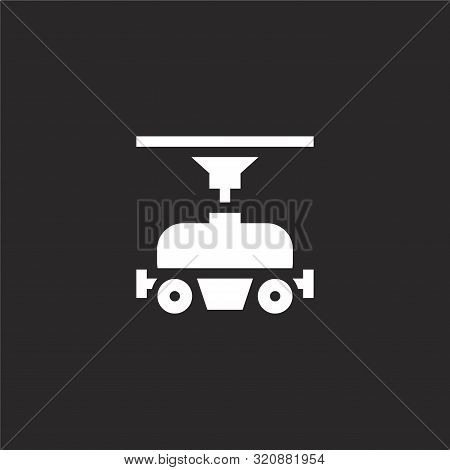 Freight Icon. Freight Icon Vector Flat Illustration For Graphic And Web Design Isolated On Black Bac