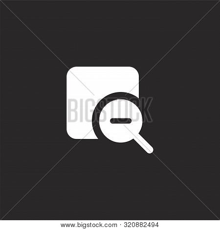 Delete Icon. Delete Icon Vector Flat Illustration For Graphic And Web Design Isolated On Black Backg