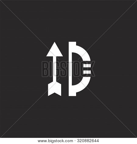 Arch Icon. Arch Icon Vector Flat Illustration For Graphic And Web Design Isolated On Black Backgroun