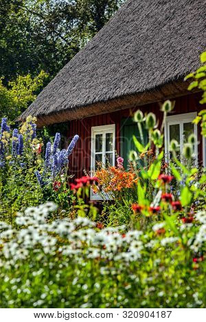 Small red cottage in Sweden