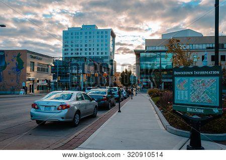 Grand Rapids, Mi/usa - October 10th 2015: Looking Into Downtown Grand Rapids Michigan During Artpriz