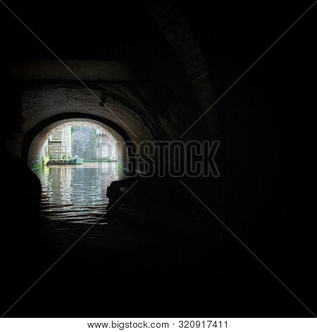 The Binnendieze Is A Small River That Is Enclosed Within The Den Bosch City In The Netherlands And T
