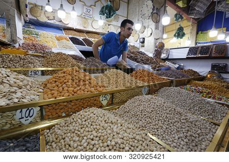 Grain Stall At The Open Air Market