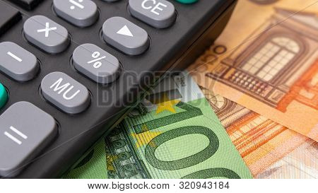 Euro Banknotes. 50 Euro Euro Money. Money Finance Earning Sector Concept. Cash Money On Wooden Backg