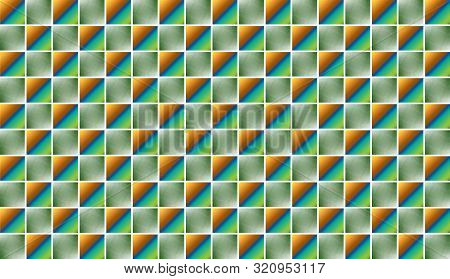 Green, Ultramarine Background Tile Ceramic Floor And Wall Tiles. Abstract Vector Geometric Mosaic Te