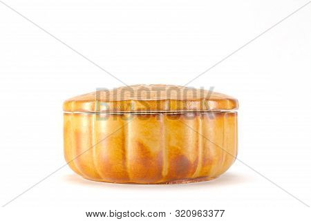 Traditional Food For The Chinese Mid Autumn Festival On White
