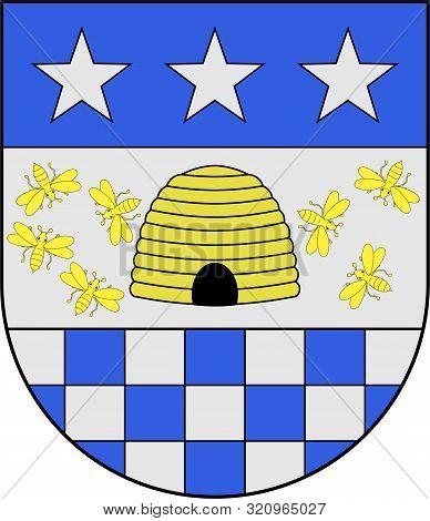 Coat Of Arms Of La Chaux-de-fonds Is A Swiss City Of The District Of La Chaux-de-fonds In The Canton