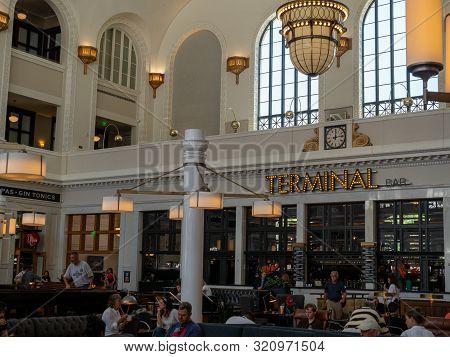 Denver, Co July 16, 2018: Terminal Bar Location At Denver Union Station