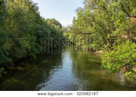 Picture From The River Elster In The Near From Karl Heine Canal.this Is A Beautiful Way Watersports