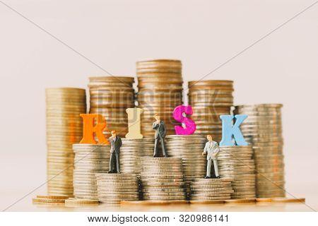 Risk Management And Small Businessmans On Bank Passbook. Money Saving. Retirement Planning. Money Sa