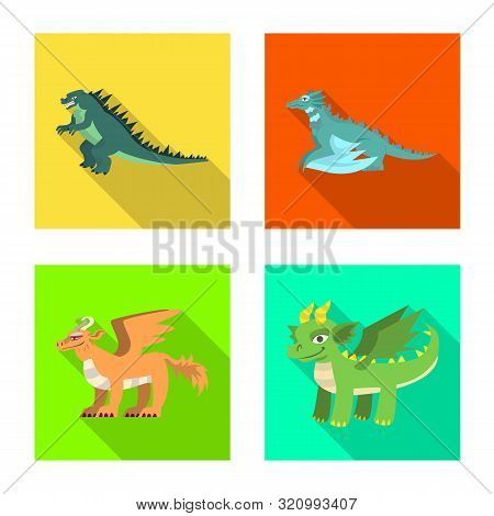 Vector Illustration Of Legend And Halloween Symbol. Set Of Legend And History Stock Symbol For Web.