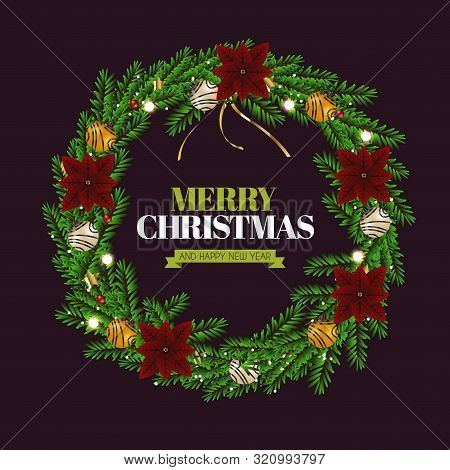 Realistic Christmas Wreath 02