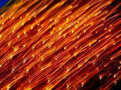 Abstract Blurred Red and Gold Lights poster