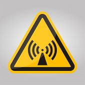 Beware Non-Ionizing Radiation Symbol sign Isolate On White Background,Vector Illustration poster