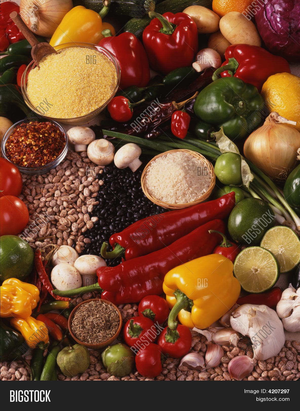 Raw mexican food ingredients image photo bigstock raw mexican food ingredients forumfinder Image collections