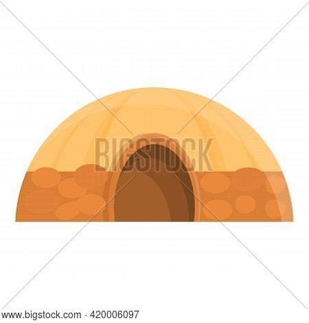 Safari Tribal Tent Icon. Cartoon Of Safari Tribal Tent Vector Icon For Web Design Isolated On White