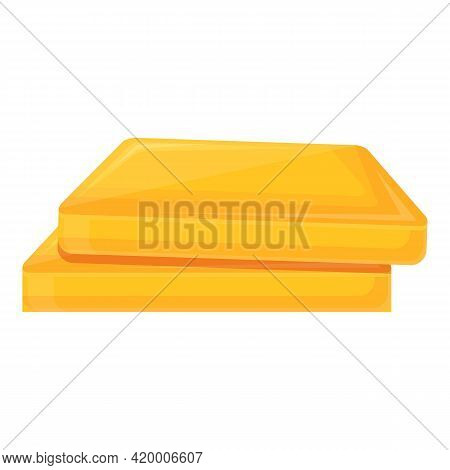 Gold Bank Reserves Icon. Cartoon Of Gold Bank Reserves Vector Icon For Web Design Isolated On White