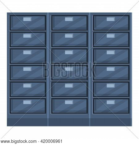 Deposit Room Box Icon. Cartoon Of Deposit Room Box Vector Icon For Web Design Isolated On White Back