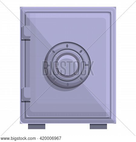 Deposit Room Safe Icon. Cartoon Of Deposit Room Safe Vector Icon For Web Design Isolated On White Ba